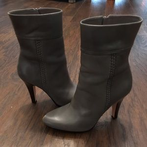 Cole Haan Gray Leather Boots Size 7.5